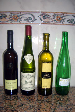 Some of the Albarinos that we bought and tried whilst in Cambados
