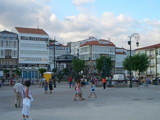 The main square at Betanzos