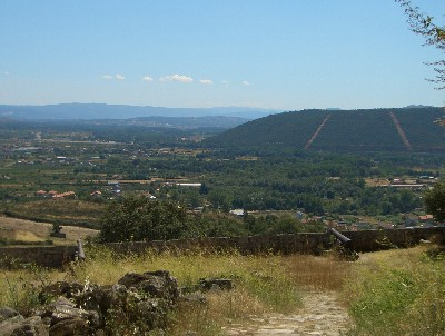 The view from the top of Monterrei Castle