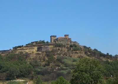 Monterrei Castle from a distance