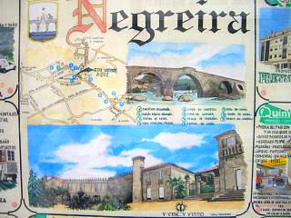 Negreira sight seeing map