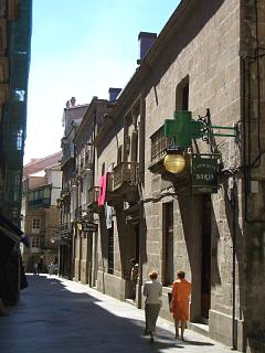 A narrow street in Ourense city