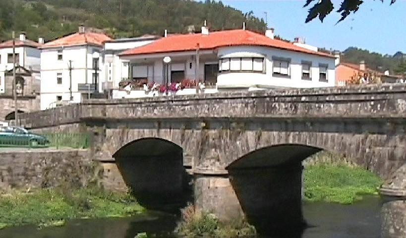 The old bridge in Padron