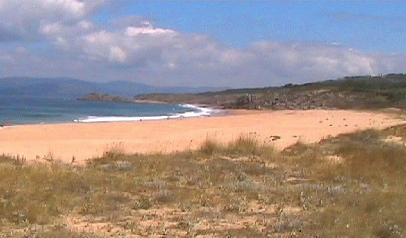 The beach at Queiruga