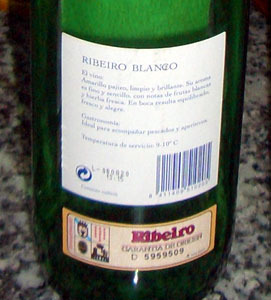 The Ribeiro label of origin