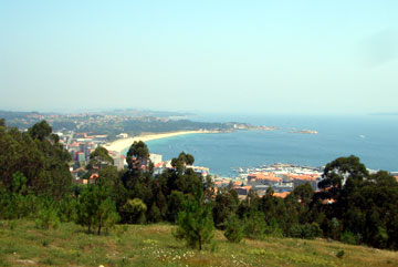 View from San Roque Parque down to Ribeira