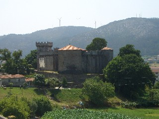 Vimianzo castle from a distance