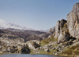 A mountain range in Asturias
