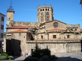 The cathedral in Ourense