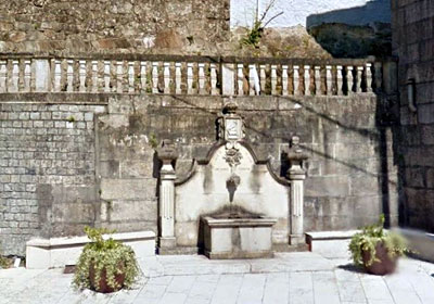 An ornamental fountain in Cerdedo