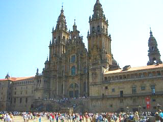 The spectacular cathedral at Santiago de Compostela in Galicia