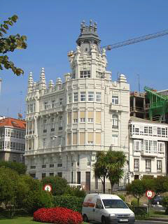 A attractive building close to the sea front
