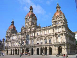 The Palacio Municipal in A Coruna city