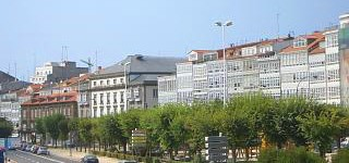 Buildings facing A Coruna harbour