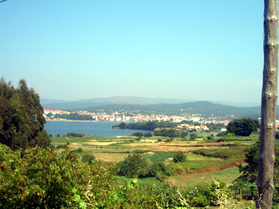 A view looking across a ria in la Coruna