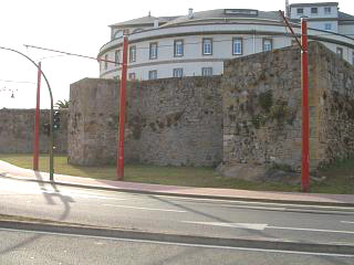A section of A Coruna's Roman wall