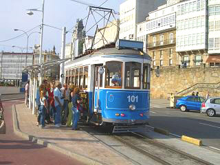 A tram in A Coruna city