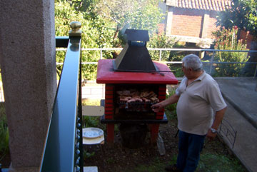 The barbeque in action