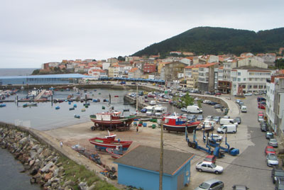 Looking across to the port and portside bay area of Finisterre