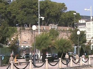 "The fort wall of the ""jardin de San Carlos"""