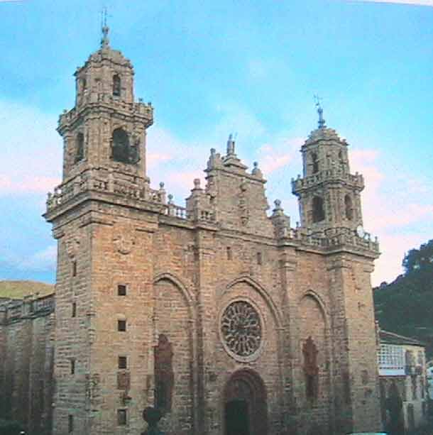 The cathedral facade at Mondonedo