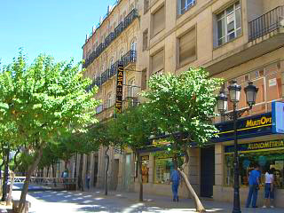 Typical street in Ourense old town