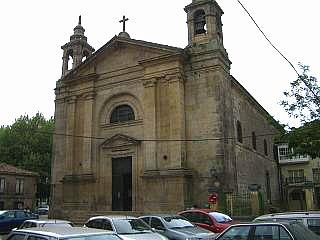 The church of Santiago in Padron