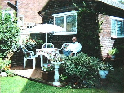 Laurie in later life enjoying a sunny day in Cookridge