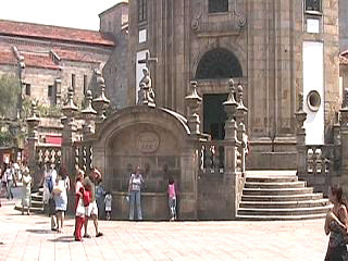 The fountain at Pontevedra's church of the pilgrim