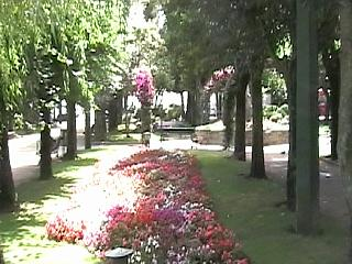 Part of the gardens adjoining the alameda of A Pobra do Caraminal