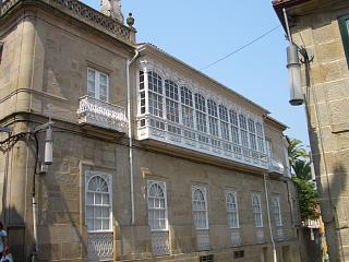A galeria building in Pontevedra close to St Bartolomeu's church