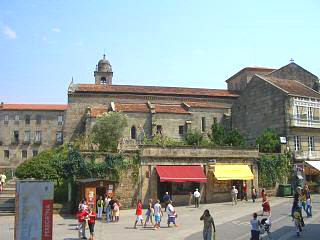 The San Francisco church in Pontevedra old town