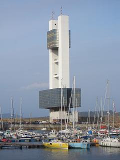 A Coruna's port control building