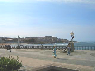 The long promenade at A Coruna city