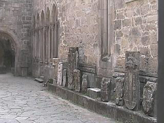 Head stones at St. Domingos church