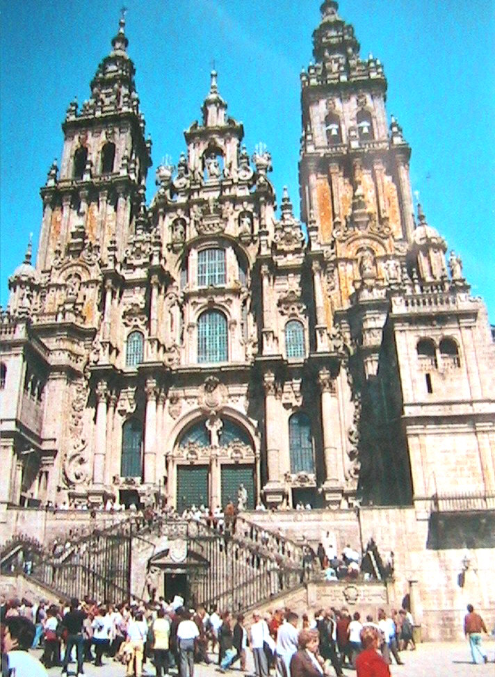 The entrance to Santiago Cathedral