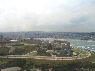 A view from the top of the tower of Hercules