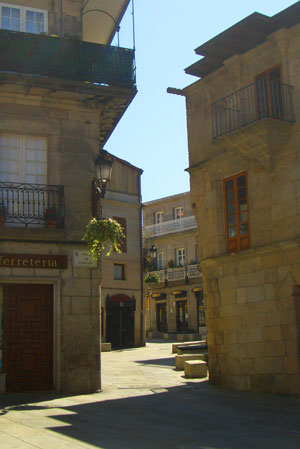Mor of vigo narrow streeted old quarter